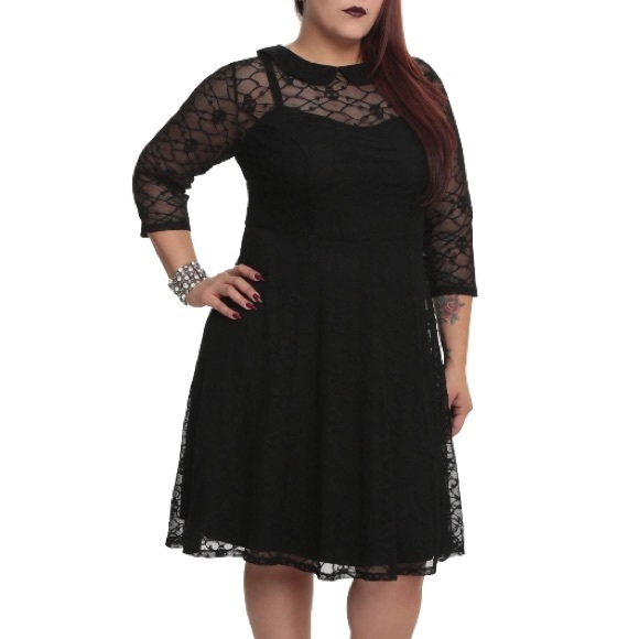 Torrid Dresses Tripp Black Skull Lace Dress Plus Size 5 Poshmark